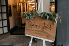 Wooden Welcome Signage