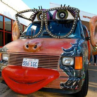 Women Rock Art Car