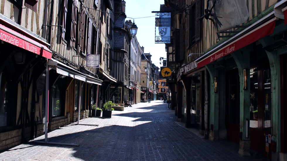 Rue Champeaux a Troyes