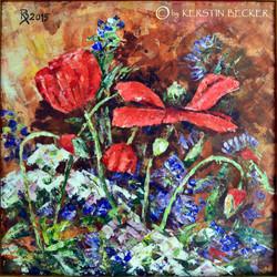 Sommerblumen, 40x 40 cm