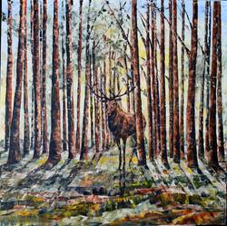 Waldstück, 80 x 80 cm