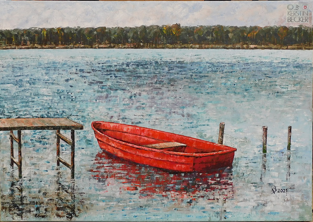 Das rote Boot 70x100