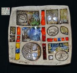 Keramikteller, Tiere, KB web
