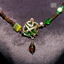 Hämatit-Collier bronze-grün (8) ab KB we
