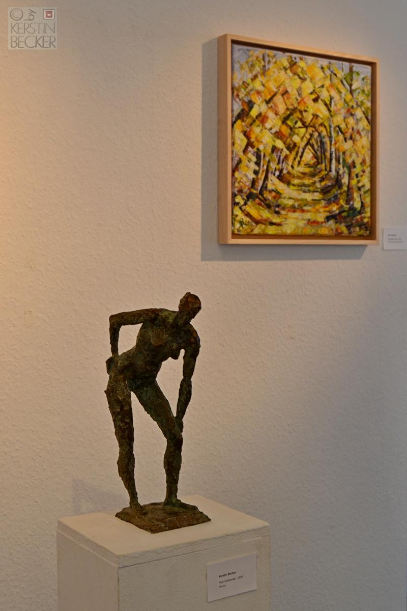 Malerie und Bronze von Kerstin Becker