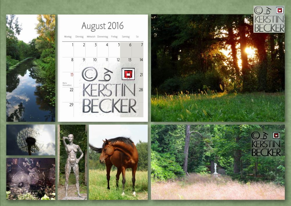 Kalender 2016, August, A4, A3