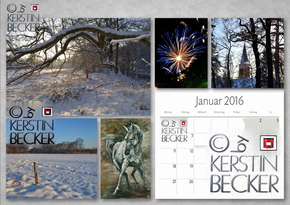 Kalender 2016, Januar,A4, A3,