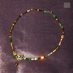 Hämatit-Collier bronze-grün (3) abb B we