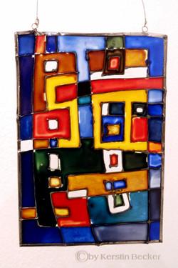 Glasmalerei, Bleigefasst