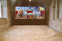 Tryptichon DIE ARCHE, ERWARTUNG, BALANCE 120x 280 cm 2