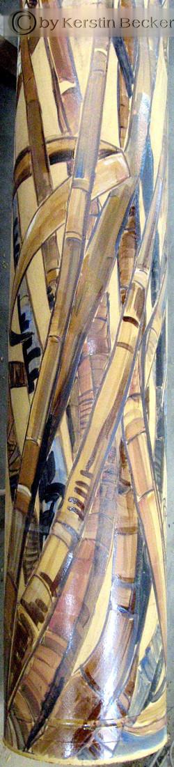 Stele, Keramik,2,70m, Glasurbemalung