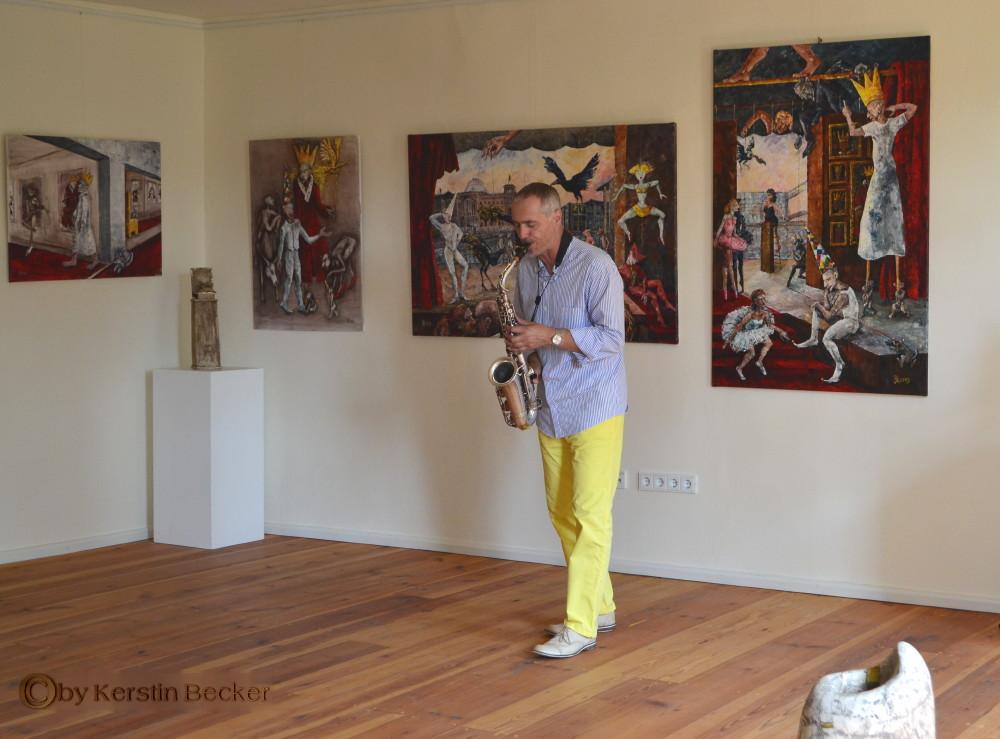 Matthias Wacker in der Ausstellung