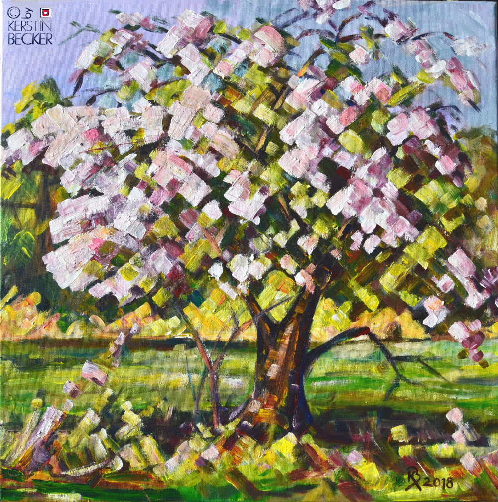 Der alte Apfelbaum Acryl 50x50