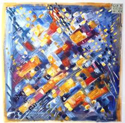 Komposition, Blau- Goldgelb