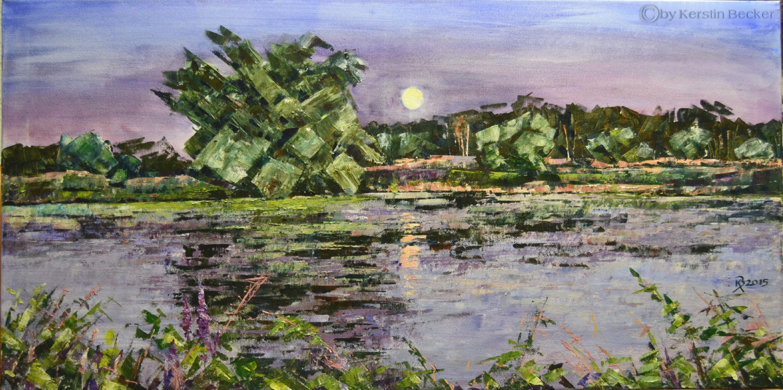 Abendlicht, 100 x 50 cm, Acryl