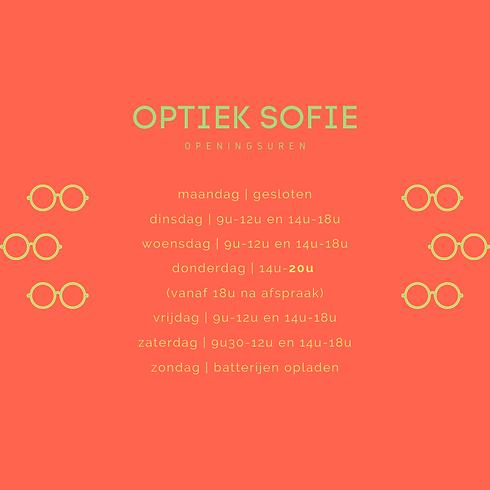Openingsuren Optiek Sofie Ronse