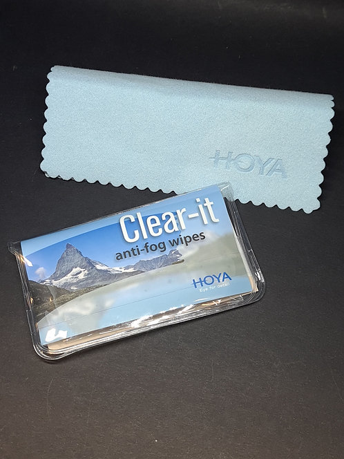Clear-it anti-fog wipes