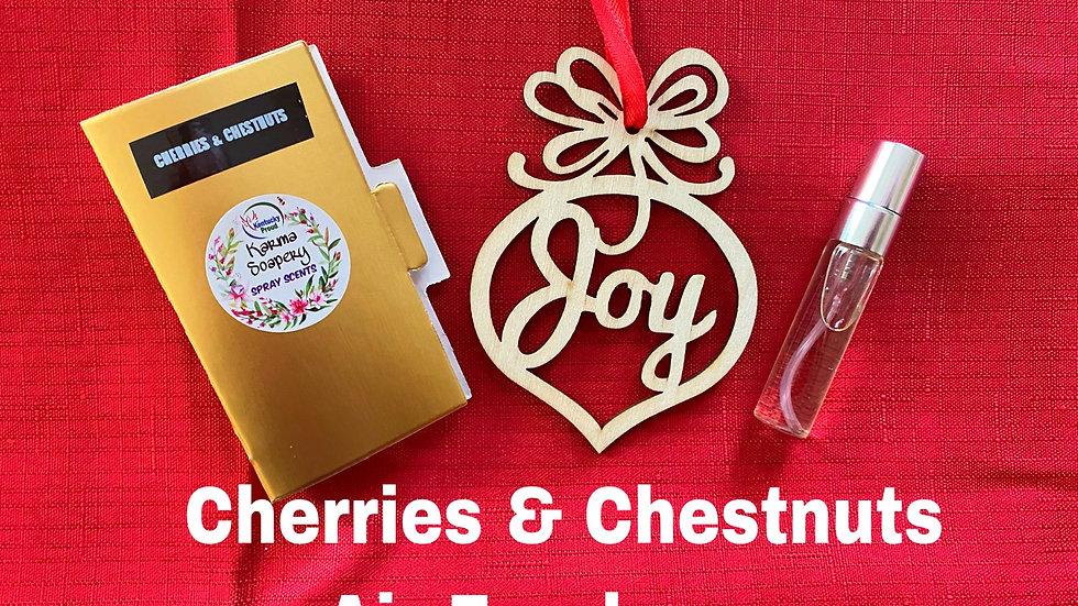 Cherries & Chestnut Air Freshener Ornament