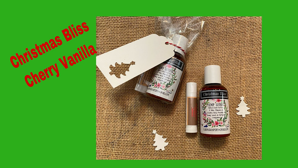 Christmas Bliss Lotion & Cherry Vanilla Lip Balm
