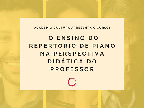 O ensino do repertório de piano na perspectiva didática do professor
