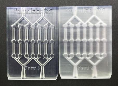 【解説】なぜ透明度に差が? Form 3 LFSの生み出す表面の差