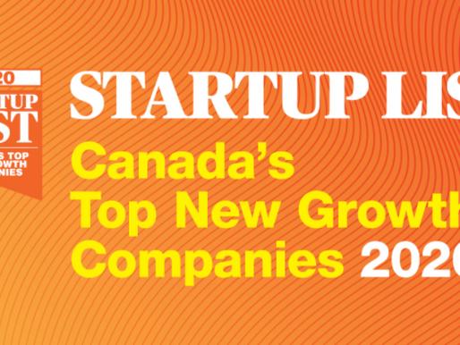 Harbinger on Canadian Business' STARTUP List 2020