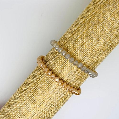 Facet armband beige-tinten