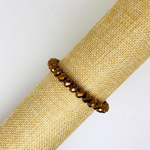 Facet armband koper