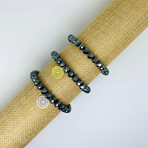 Facet armband metallic
