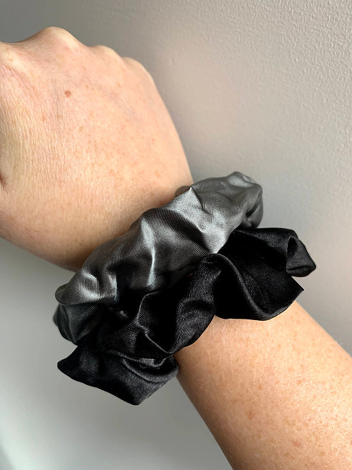 Scrunchie grijs/zwart