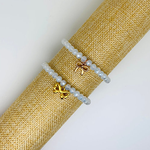 Facet armband wit