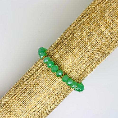 Facet armband groen