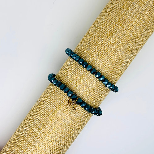 Facet armband biscay-groen