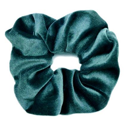 Scrunchie velvet petrol green