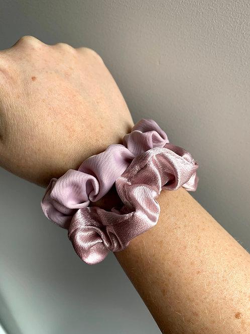 Scrunchie fijn roze