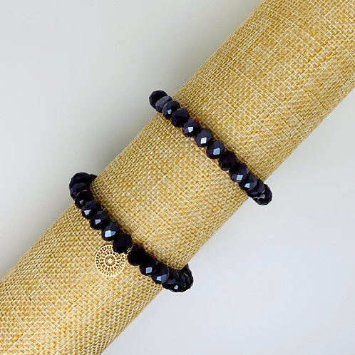 Facet armband donkerrood