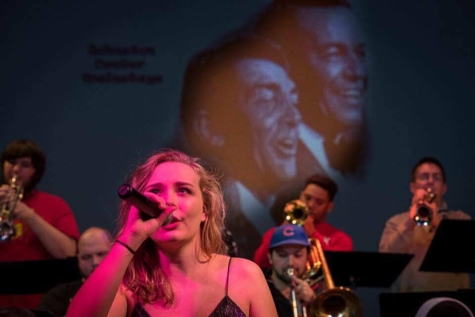 Leah with Jazz band