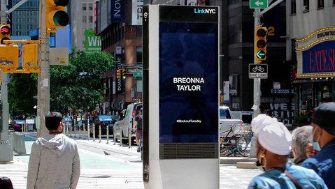 LinkNYC Kiosks Remembering Black Lives