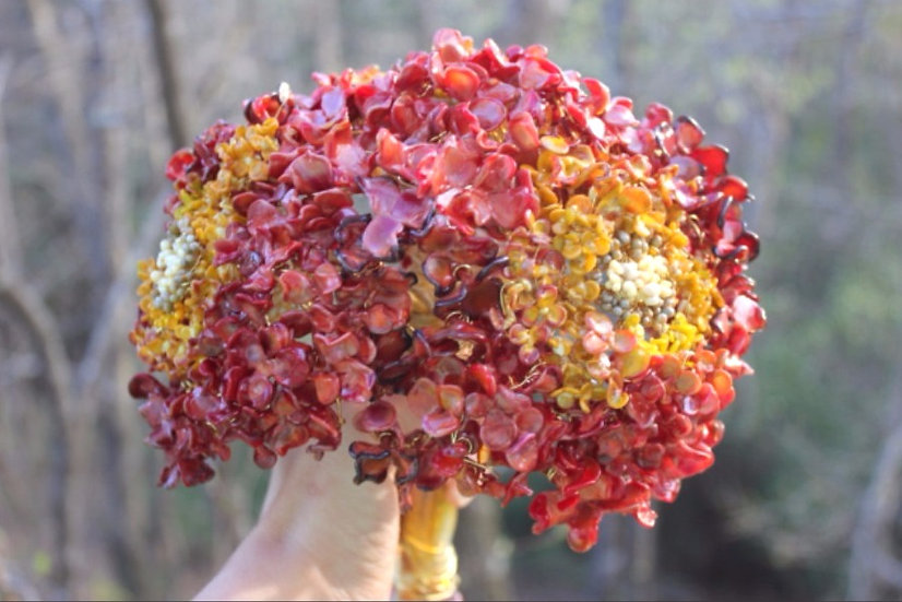 Glass Bouquet Hydrangea Custom Color Available
