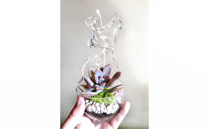 Abstract Hanging Terrarium