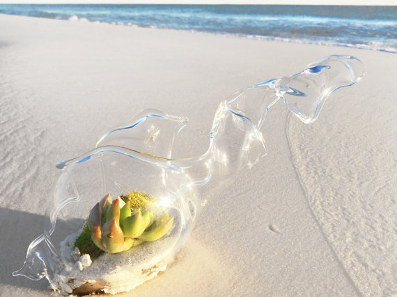 Beach Themed Terrarium Favor - Emerald Coast