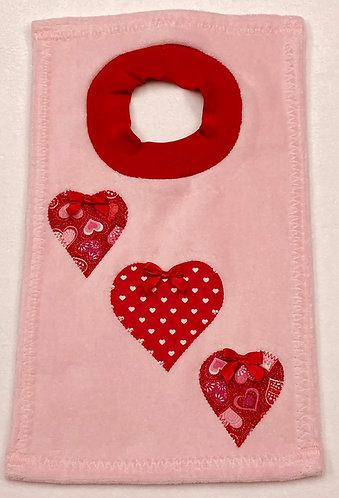 Red Hearts Bib