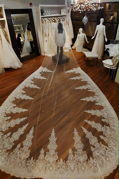 Royal Veil Length - 157 inches long - Royal Collection style 2015
