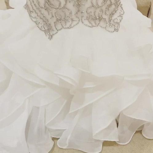 Open Back Beaded Wedding Dress - Santorini Collection Style 2020-5