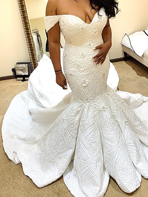 Off the Shoulder Wedding Dress - Santorini Collection 2020-8