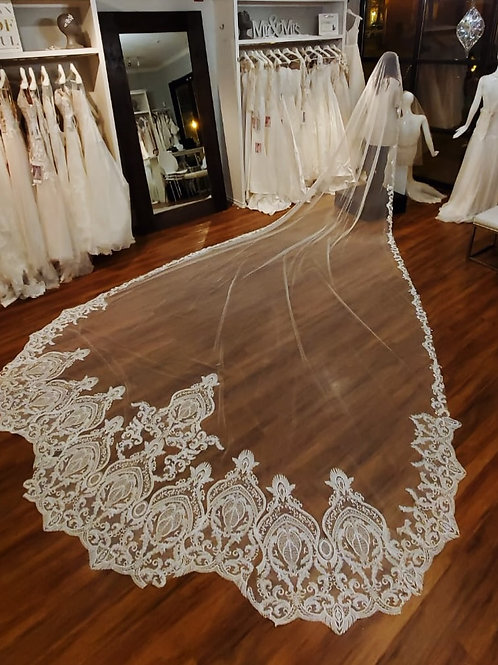 Cathedral Veil Length - 128 inches long - Cathedral Collection style 2008