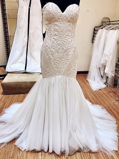 Off the Shoulder Wedding Dress - Santorini Collection Style Number 2020-7