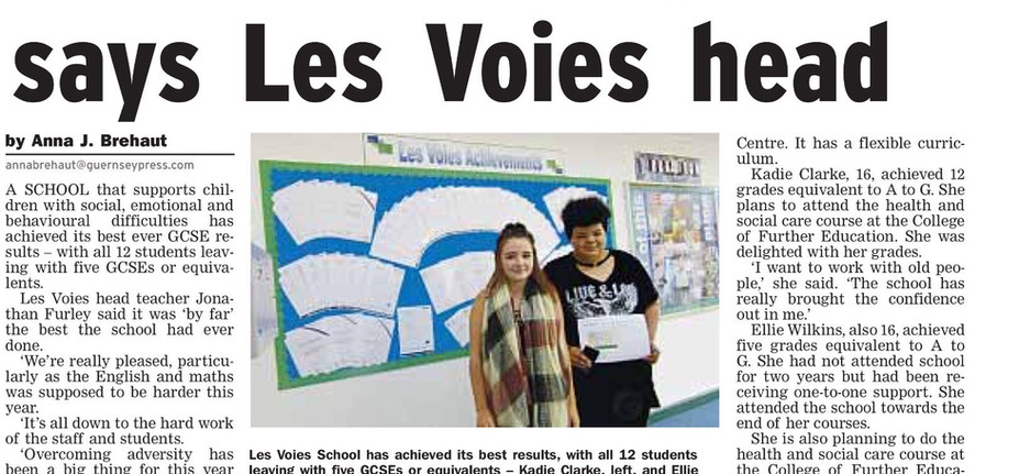 Students Praised for Exam Results.