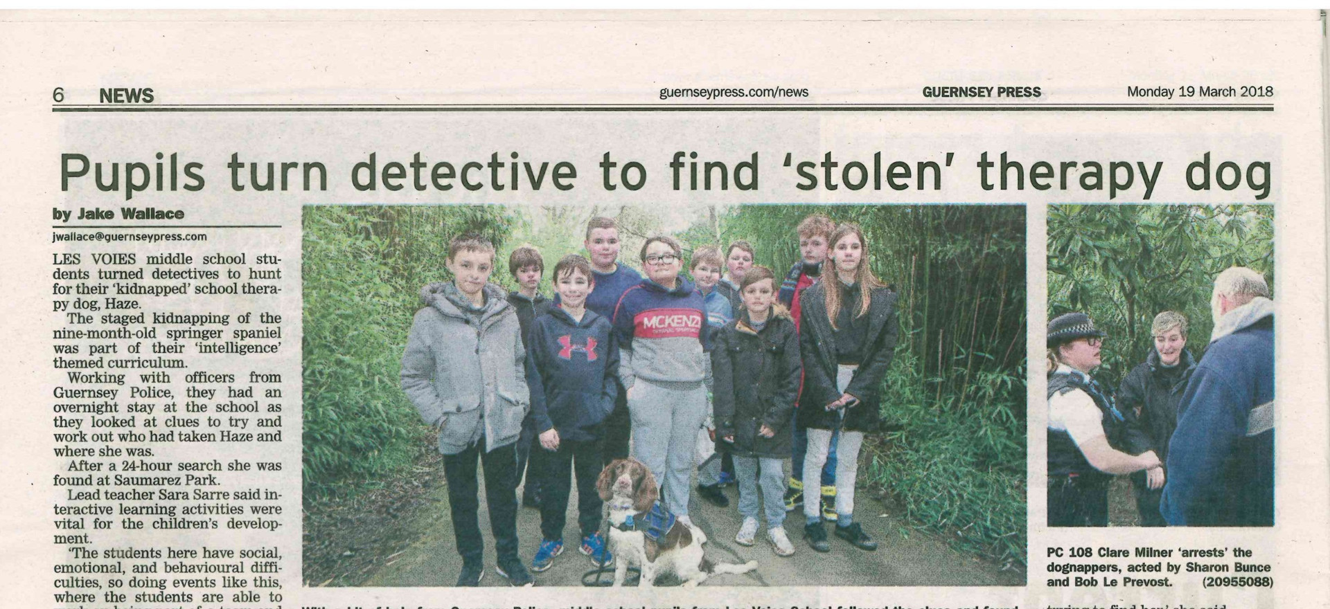 Les Voies Students turn Detective