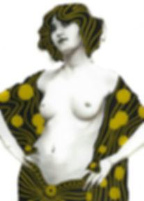 Delta of Venus - Original artwork by New Orleans painter Louis Braquet